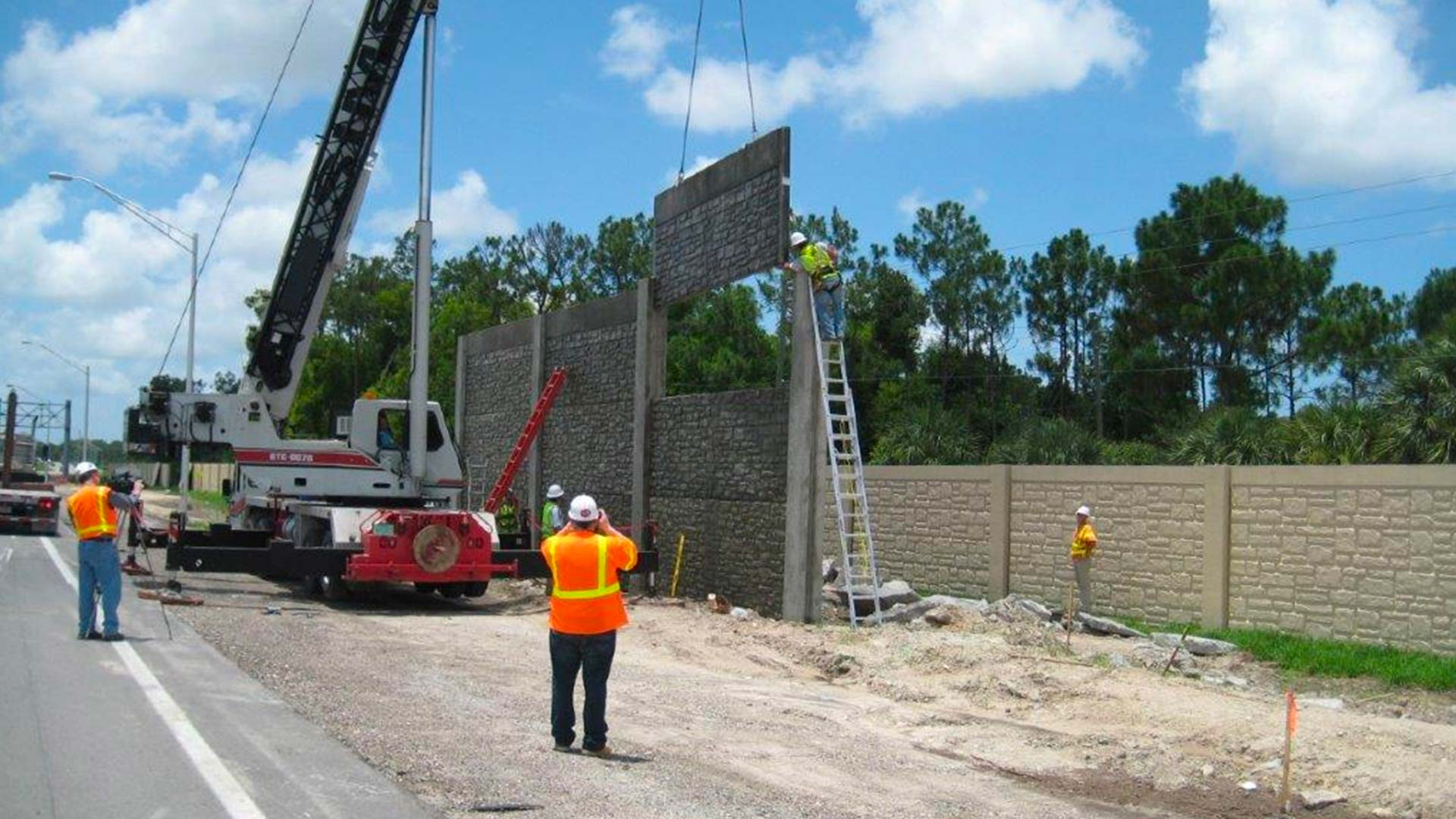 Noise wall construction