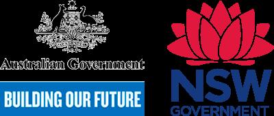 Australian Government & NSW Government logos