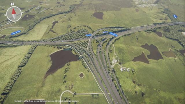 M12 Western Sydney International Airport interchange