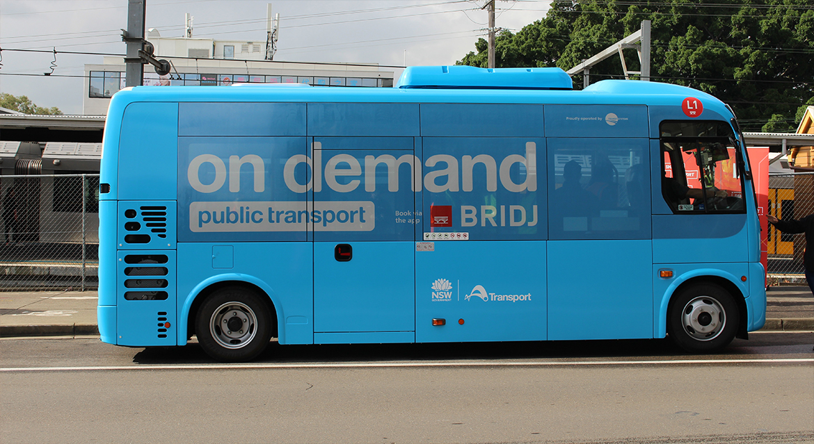 On Demand Public Transport bus