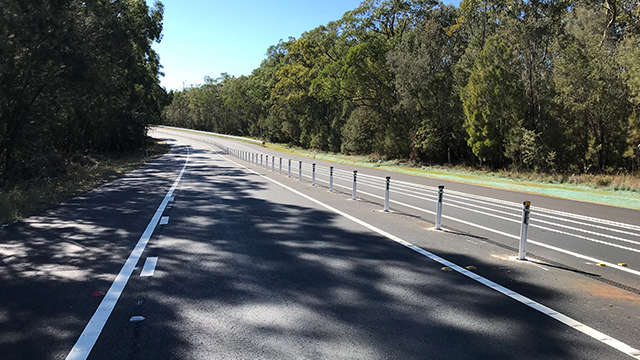 Road safety imrpovements: flexible safety barriers